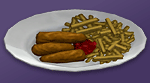 Рыба с жареным картофелем