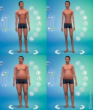 Редактор создания персонажей (CAS) в Симс 4: моделирование тела