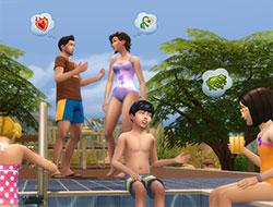 Общение у бассейна в Симс 4