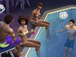 Разговоры у бассейна в Симс 4