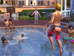 Развлечения у бассейна в Симс 4