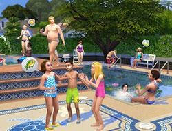 Веселье в бассейнах Симс 4