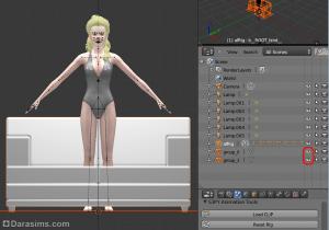 Добавление объектов и одежды в Blender при создании поз в Симс 3