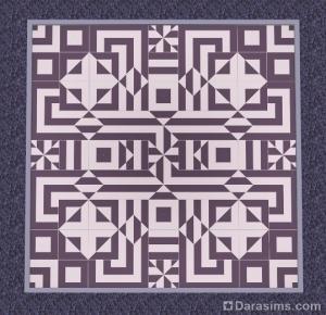Контрастный узор из полосатой плитки