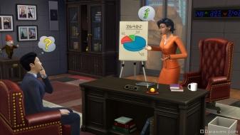 Бизнесмен в The Sims 4