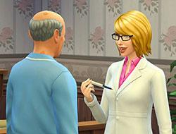 Врач и пациент в «Симс 4 На работу!»
