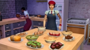 Навык выпечки в The Sims 4 Get to Work