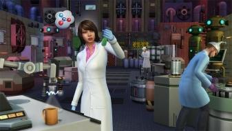 Ученый химичит в «Симс 4 На работу!»