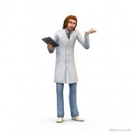 Сим в белом халате из «Симс 4 На работу!»