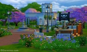 Парк «Цветущая Магнолия» Sims 4
