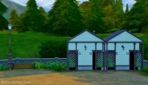 Общественный туалет в Sims 4