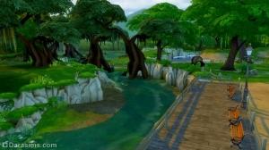 Парк Цветущая Магнолия Симс 4