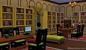 Общественная библиотека в Симс 4