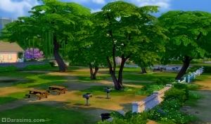 Общественный парк в симс 4