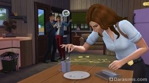 детектив ищет улики в The Sims 4 На работу!