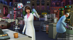 сим создает сыворотку в The Sims 4 На работу!