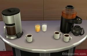 Чай, кофе, сок и молоко в sims 4