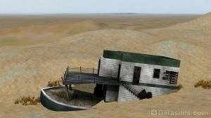 Заброшенный плавучий дом на пустоши