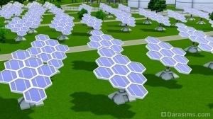 Солнечные батареи в городе будущего Симс 3
