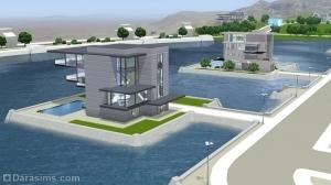 Дома на воде в Оазисе Приземления