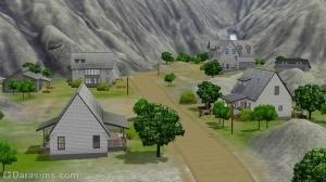 Шахтерский жилой район в городе будущего