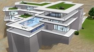 Жилой дом в стиле будущего в Симс 3