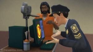 Снятие отпечатков пальцев преступника в The Sims 4 Get to Work