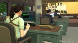 Детектив на работе в Симс 4