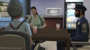 Общение с коллегами в полицейском участке в The Sims 4 Get to Work