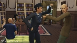 Арест преступника в The Sims 4 Get to Work