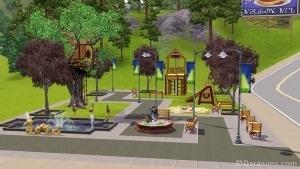 Детская площадка в sims 3 town life stuff