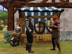 Торговля в средневековой лавке