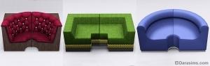 Типы диванов из угловых секций в симс 3