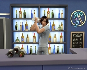 приготовление белкового коктейля в игре sims 4