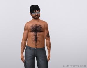 Волосатый персонаж из Симс 3