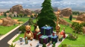 Эти симы из The Sims 4 очень любят Рождество и огромные вещи.