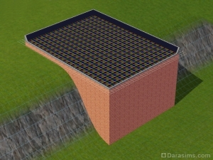 Строим подвесной дом на склоне в The Sims 3
