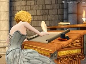 Монарх за письменным столом The Sims Medieval