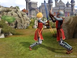 Бой на мечах в The Sims Medieval