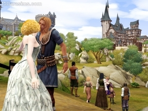 Поцелуй Королевы в The Sims Medieval