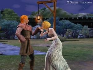 Королева и ухажер в квесте Симс Средневековье