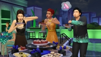 Фуршет в The Sims 4 Luxury Party Stuff Pack