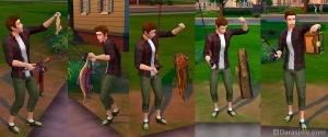 Улов в игре sims 4