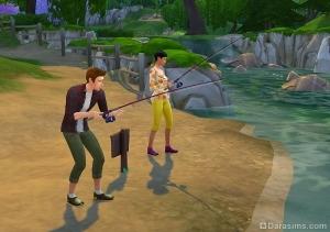 рыбалка sims 4
