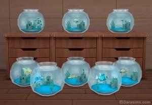 Рыбы в аквариумах Симс 4