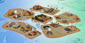Карта Оазис Спрингс DaraSims