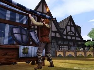 Торговец открывает лавку в The Sims Medieval