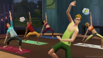 Йога в наборе The Sims 4 День спа