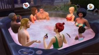 Джакузи в The Sims 4 Внутренний дворик