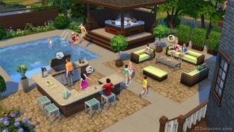 Внутренний дворик в The Sims 4 Perfect Patio
